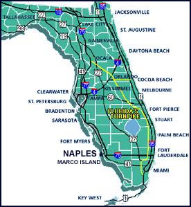 florida map near naples